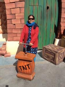 Anuradha prepares to empower women and eradicate child labor