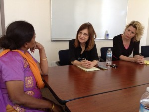 Anuradha Bhosale Sandra Morgan and Leslie Brook of Vanguard University
