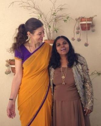 Anuradha and Lynnea chillin in San Clemente California