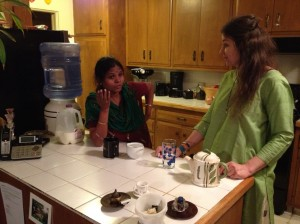 Anuradha Bhosale of AVANI arrives in San Clemente with Lynnea Bylund