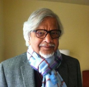 Arun Gandhi sporting a World Peace Tartan